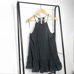 Free People Black Racerback Mini Slip Dress